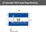 El Salvador Flags 12x18 inch (with seal)