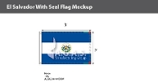 El Salvador Flags 2x3 foot (with seal)