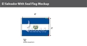 El Salvador Flags 4x6 foot (with seal)