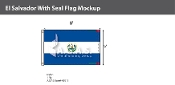 El Salvador Flags 5x8 foot (with seal)