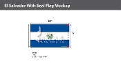 El Salvador Flags 6x10 foot (with seal)