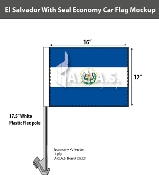 El Salvador Car Flags 12x16 inch Economy (with seal)