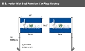 El Salvador Car Flags 10.5x15 inch Premium (with seal)