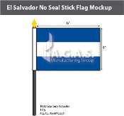 El Salvador Stick Flags 4x6 inch (no seal)