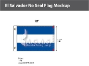 El Salvador Flags 12x18 inch (no seal)