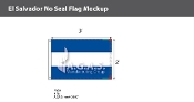El Salvador Flags 2x3 foot (no seal)