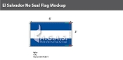 El Salvador Flags 3x5 foot (no seal)