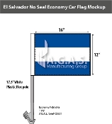 El Salvador Car Flags 12x16 inch Economy (no seal)