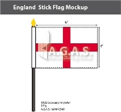 England Stick Flags 4x6 inch