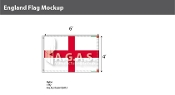 England Flags 4x6 foot