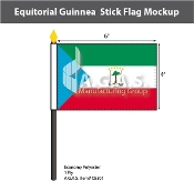 Equatorial Guinea Stick Flags 4x6 inch