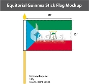 Equatorial Guinea Stick Flags 12x18 inch