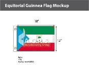 Equatorial Guinea Flags 12x18 inch