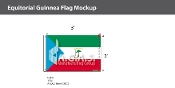 Equatorial Guinea Flags 2x3 foot