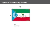 Equatorial Guinea Flags 8x12 foot