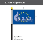 EU Stick Flags 4x6 inch
