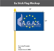 EU Stick Flags 12x18 inch