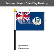 Falkland Islands Stick Flags 4x6 inch