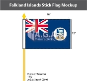 Falkland Islands Stick Flags 12x18 inch