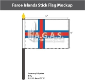 Faroe Islands Stick Flags 4x6 inch