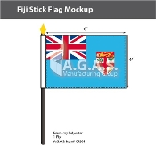 Fiji Stick Flags 4x6 inch