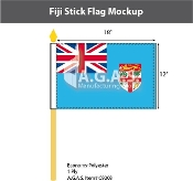 Fiji Stick Flags 12x18 inch