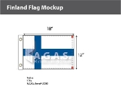 Finland Flags 12x18 inch