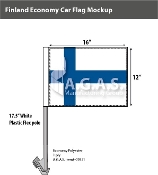 Finland Car Flags 12x16 inch Economy