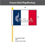 France Stick Flags 12x18 inch