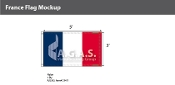 France Flags 3x5 foot