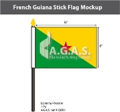 French Guyana Stick Flags 4x6 inch