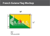 French Guyana Flags 12x18 inch