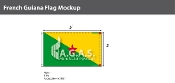 French Guyana Flags 3x5 foot