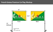 French Guyana Car Flags 10.5x15 inch Premium