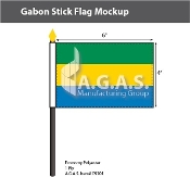 Gabon Stick Flags 4x6 inch