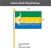 Gabon Stick Flags 12x18 inch