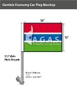 Gambia Car Flags 12x16 inch Economy