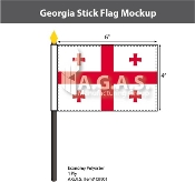Georgia Stick Flags 4x6 inch