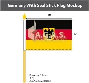 Germany Stick Flags 12x18 inch (with seal)