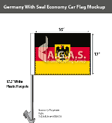 Germany Car Flags 12x16 inch Economy (with seal)