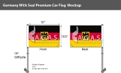 Germany Car Flags 10.5x15 inch Premium (with seal)