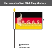 Germany Stick Flags 4x6 inch (no seal)