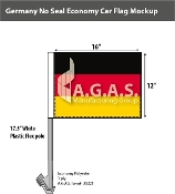 Germany Car Flags 12x16 inch Economy (no seal)