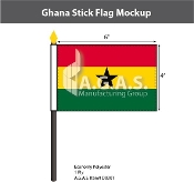Ghana Stick Flags 4x6 inch