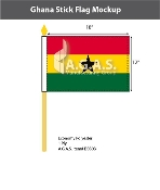 Ghana Stick Flags 12x18 inch