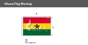 Ghana Flags 2x3 foot