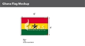 Ghana Flags 4x6 foot