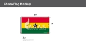 Ghana Flags 6x10 foot