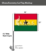 Ghana Car Flags 12x16 inch Economy
