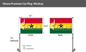 Ghana Car Flags 10.5x15 inch Premium